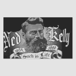 Ned Kelly - An Australian Legend Rectangular Sticker