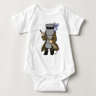 ned kelly distressed baby bodysuit