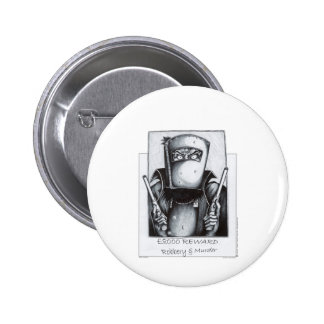 Ned Kelly (Wanted Poster) 6 Cm Round Badge