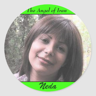 NEDA SOLTANI, The Angel of Iran, Neda Classic Round Sticker