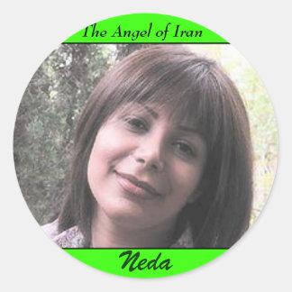 NEDA SOLTANI, The Angel of Iran, Neda Round Sticker