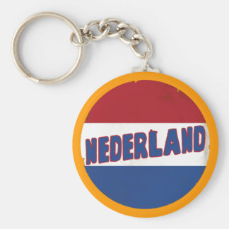 Nederland Basic Round Button Key Ring