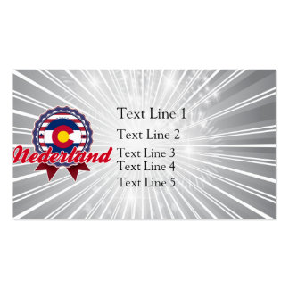 Nederland, CO Business Card Template