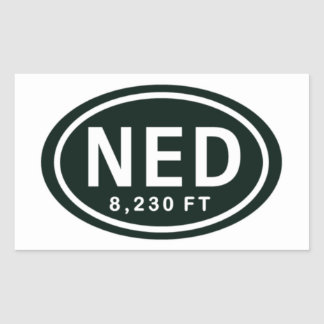Nederland Colorado 8,230 FT NED Rocky Mountain Rectangular Sticker