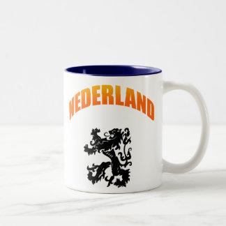 Nederland leeuw Voetbal wk Two-Tone Coffee Mug
