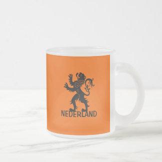 Nederland Lion Frosted Glass Mug