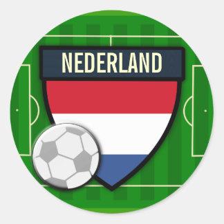 Nederland Netherlands Soccer Classic Round Sticker