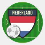 Nederland Netherlands Soccer Round Sticker
