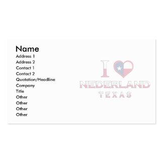 Nederland, Texas Business Card