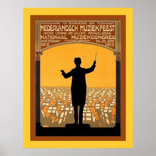 Nederlandsch Muziekfeest ~ Vintage Dutch Print