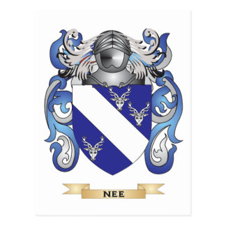 Nee Coat of Arms Family Crest Postcard