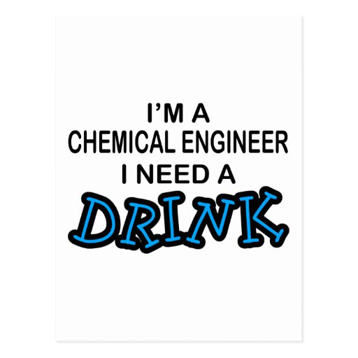 Need a Dink - Chemical Engineer Post Cards