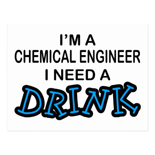 Need a Dink - Chemical Engineer Post Card