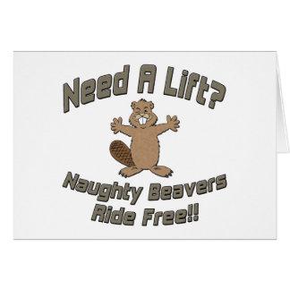 Need A Lift Naughty Beavers Ride Free Card