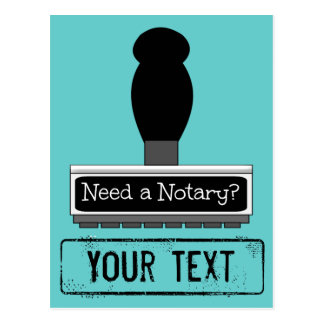 Need a Notary Rubber Stamp Customized Postcard