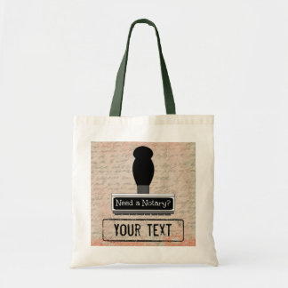Need a Notary Rubber Stamp Customized Tote Bag