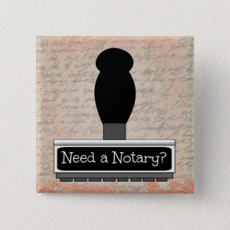 Need a Notary Rubber Stamp over Handwritten Text 15 Cm Square Badge