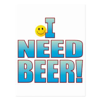 Need Beer Life B Postcard
