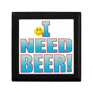Need Beer Life B Small Square Gift Box