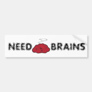 Need Brains (Dead Galoot Hoot Zombie Owl Brain) Bumper Stickers