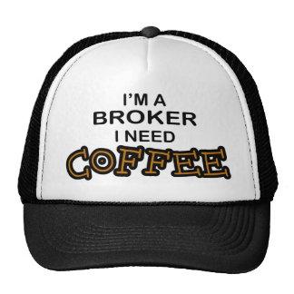 Need Coffee - Broker Trucker Hats