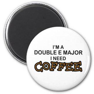 Need Coffee - Double E 6 Cm Round Magnet