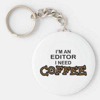 Need Coffee - Editor Basic Round Button Key Ring