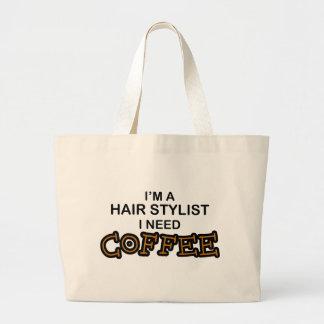Need Coffee - Hair Stylist Jumbo Tote Bag