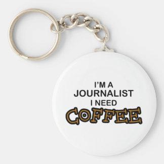 Need Coffee - Journalist Basic Round Button Key Ring