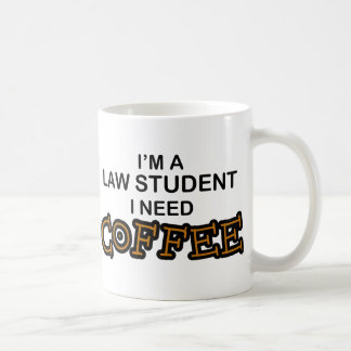 Need Coffee - Law Student Basic White Mug