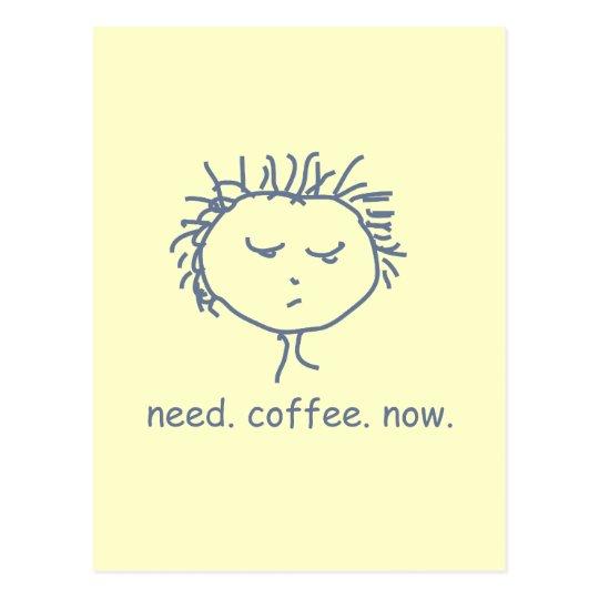 Need Coffee Now Postcard