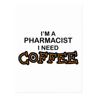 Need Coffee - Pharmacist Postcard