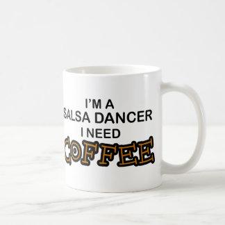 Need Coffee - Salsa Dancer Basic White Mug