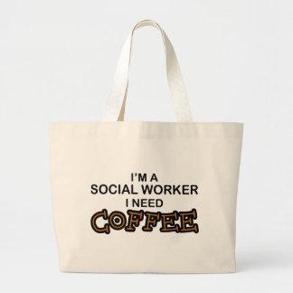 Need Coffee - Social Worker Jumbo Tote Bag