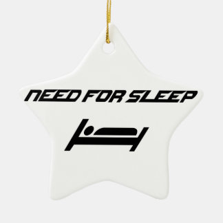 Need for sleep ceramic star decoration