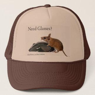 need glasses trucker hat