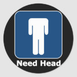Need Head Round Stickers