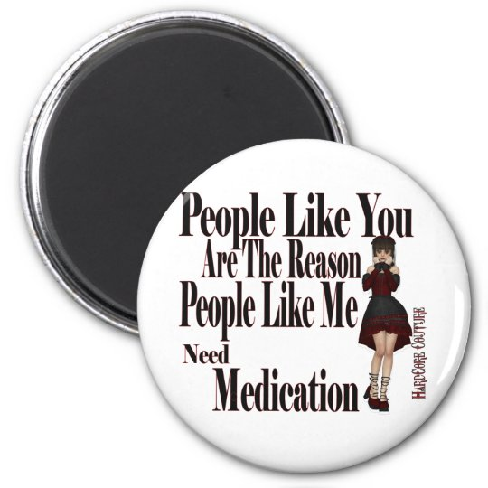 need medication 6 cm round magnet