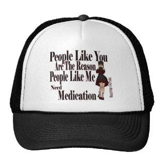 need medication mesh hats