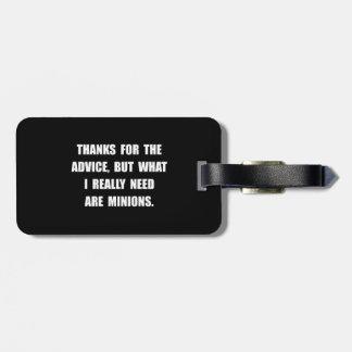 Need Minions Luggage Tag