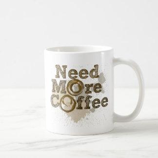 Need More Coffee Basic White Mug