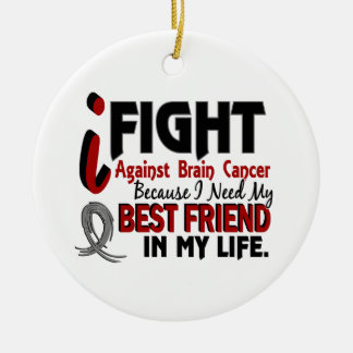 Need My Best Friend Brain Cancer Christmas Ornament
