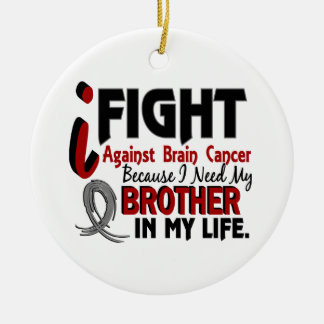 Need My Brother Brain Cancer Christmas Ornament