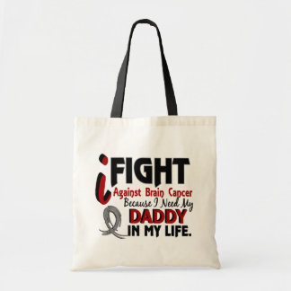 Need My Daddy Brain Cancer Budget Tote Bag