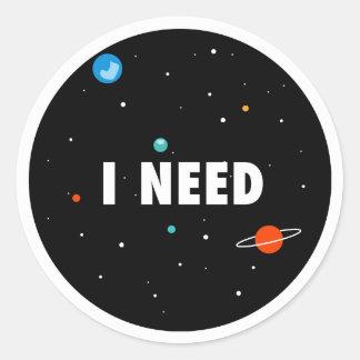 need space round sticker
