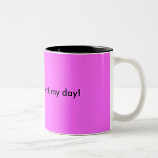Need this to start my day! Two-Tone mug