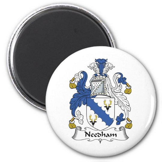 Needham Family Crest 6 Cm Round Magnet