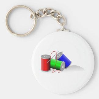 Needle and Thread Keychain