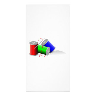 Needle and Thread Custom Photo Card