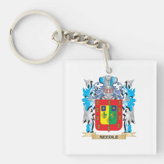 Needle Coat of Arms - Family Crest Square Acrylic Keychain